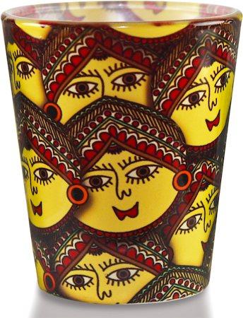 Kolorobia Madhubani Revival Shot Glass, 30 ml - set of 2