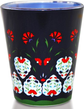 Kolorobia Smile Flowers Turkish Shot Glass, 30 ml - set of 2