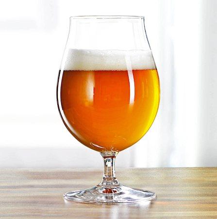 Spiegelau Beer Classics Tulip Stemmed Pilsner Crystal Beer/Wine Glass, 440 ml - set of 4
