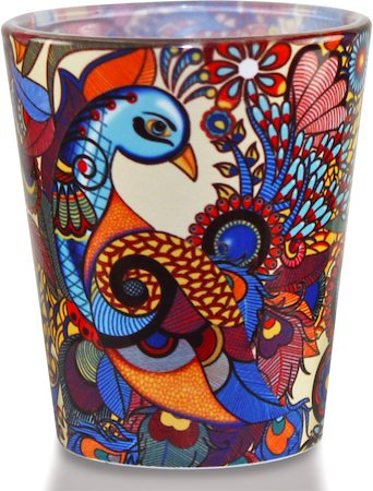 Kolorobia Exotic Peacock Shot Glass, 30 ml - set of 2