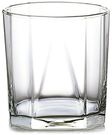 Ocean Pyramid Multi-Facade Designer Whisky Glass, 330 ml - set of 6
