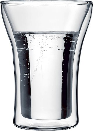 Bodum Assam Double Wall Glass, Medium 250 ml - set of 2